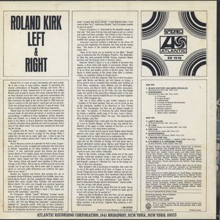 Roland Kirk / Left & Right back