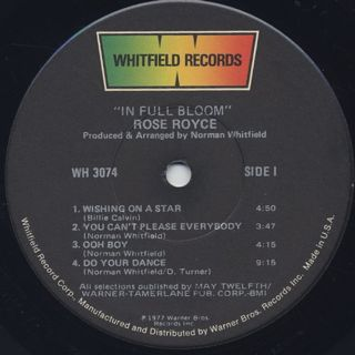 Rose Royce / In Full Bloom label