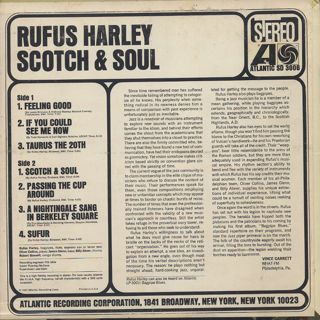 Rufus Harley / Scotch & Soul back