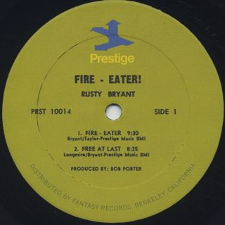 Rusty Bryant / Fire Eater label