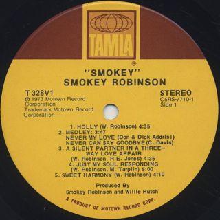 Smokey Robinson / Smokey label