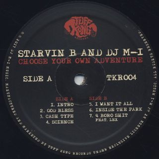 Starvin B And DJ M-1 / Choose Your Own Adventure label