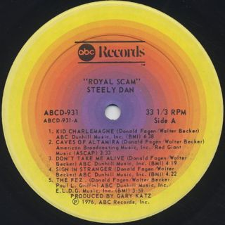Steely Dan / The Royal Scam label