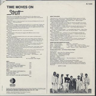 Strutt / Time Moves On back