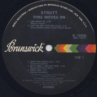 Strutt / Time Moves On label