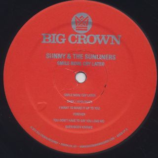 Sunny & The Sunliners / Smile Now... Cry Later label