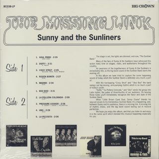 Sunny & The Sunliners / The Missing Link back