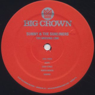 Sunny & The Sunliners / The Missing Link label