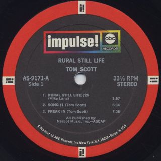 Tom Scott / Rural Still Life label