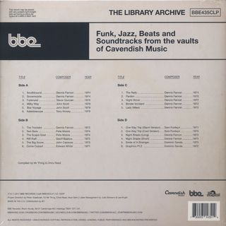 V.A. / The Library Archive(Funk, Jazz, Beats And Soundtracks From The Vaults Of Cavendish Music) back