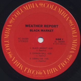 Weather Report / Black Market label