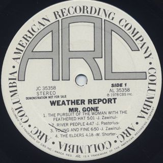 Weather Report / Mr. Gone label
