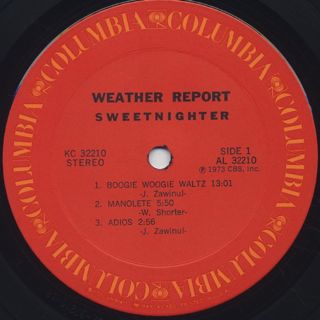 Weather Report / Sweetnighter label