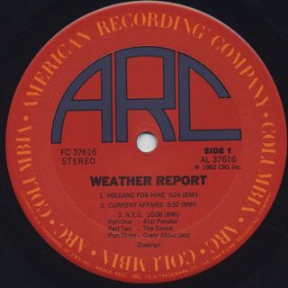 Weather Report / Weather Report label