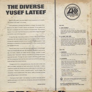 Yusef Lateef / The Diverse back