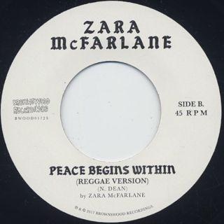 Zara McFarlane / Peace Begins Witin back