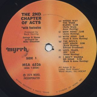 2nd Chapter Of Acts / With Footnotes label