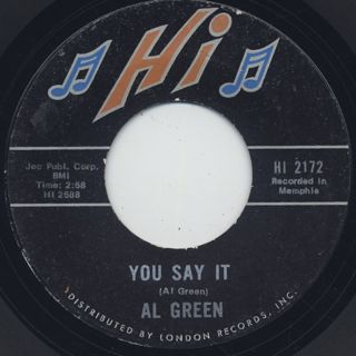 Al Green / You Say It c/w Gotta Find A New World front