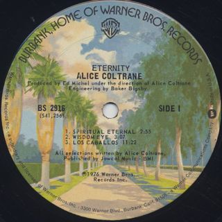 Alice Coltrane / Eternity label