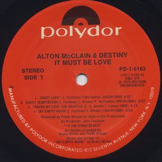Alton McClain & Destiny / S.T. label
