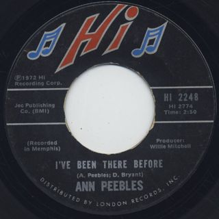 Ann Peebles / I Can't Stand The Rain back
