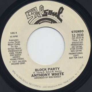 Anthony White / I Can't Turn You Loose c/w Block Party back