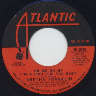 Aretha Franklin / Rock Steady(45) back