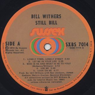 Bill Withers / Still Bill label