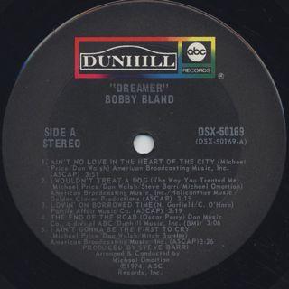 Bobby Bland / Dreamer label