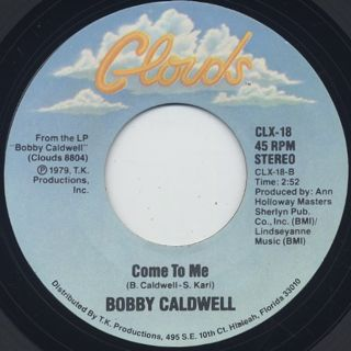 Bobby Caldwell / My Flame c/w Come To Me back