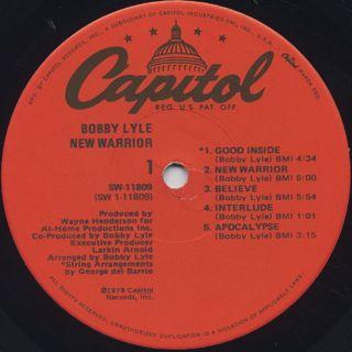 Bobby Lyle / New Warrior label