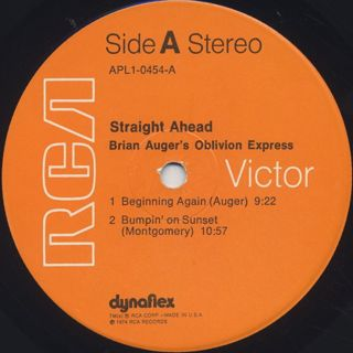 Brian Auger's Oblivion Express / Straight Ahead label