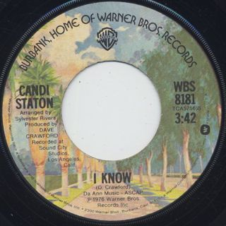 Candi Staton / Young Hearts Run Free c/w I Know back