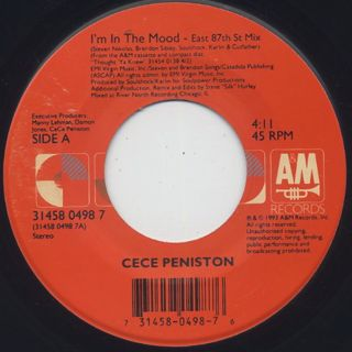 CeCe Peniston / I'm In The Mood c/w Keep On Walkin' front