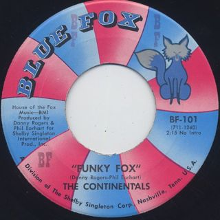 Continentals / Funky Fox c/w Straight Ahead back