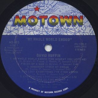 David Ruffin / My Whole World Ended label