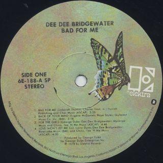 Dee Dee Bridgewater / Bad For Me label