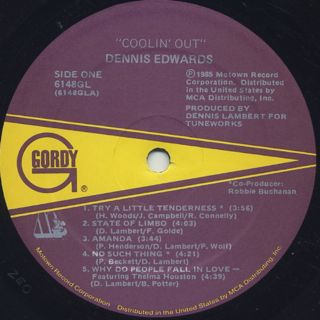 Dennis Edwards / Coolin' Out label
