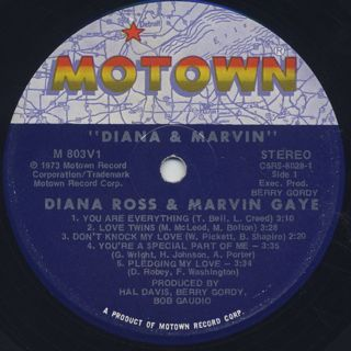 Diana Ross & Marvin Gaye / Diana & Marvin label
