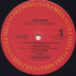 Djavan / Bird Of Paradise label