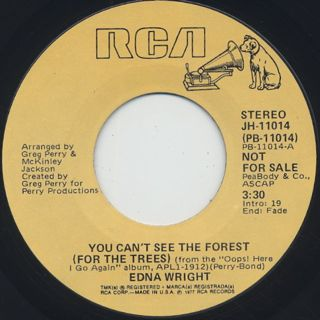 Edna Wright / You Can't See The Forest (For The Trees) front