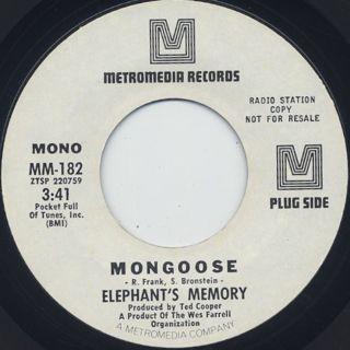 Elephant's Memory / Mangoose (7