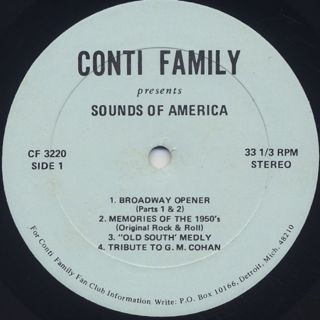 Fabulous Conti Family / Sound Of America label