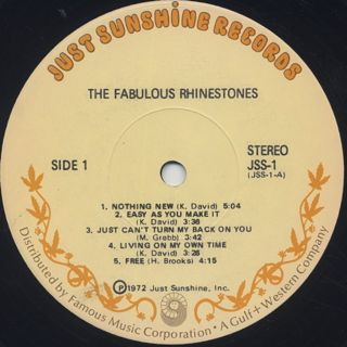Fabulous Rhinestones / S.T. label