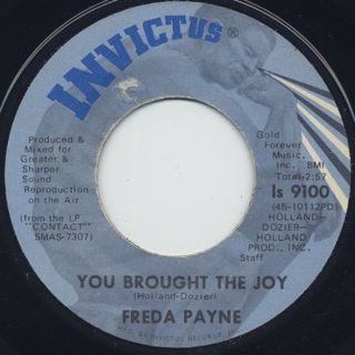 Freda Payne / You Brought The Joy