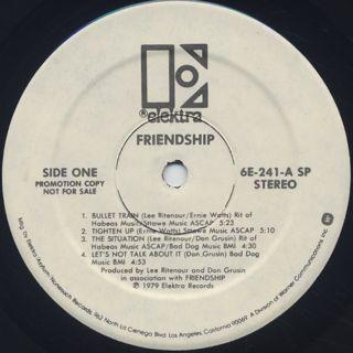 Friendship / S.T. label