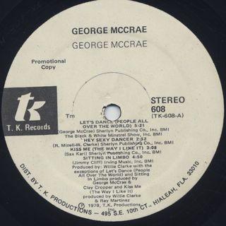 George McCrae / George McCrae label