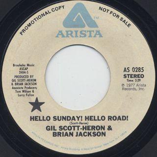 Gil Scott Heron & Brian Jackson / Hello Sunday! Hello Road