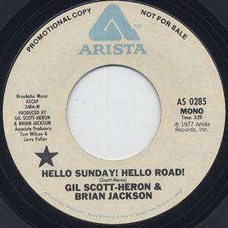 Gil Scott Heron & Brian Jackson / Hello Sunday! Hello Road back