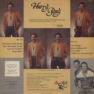 Harry Ray / It's Good To Be Home back
